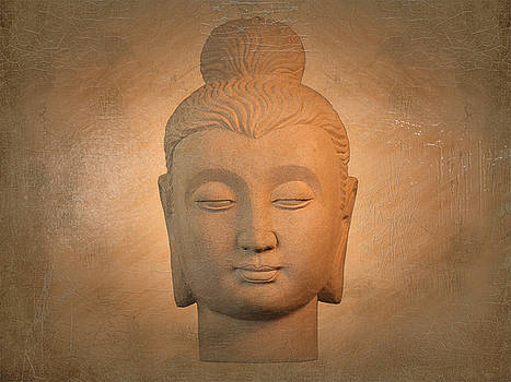 antique oil effect Buddha Gandhara by Terrell Kaucher
