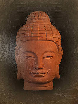 antique oil effect Buddha Khmer by Terrell Kaucher