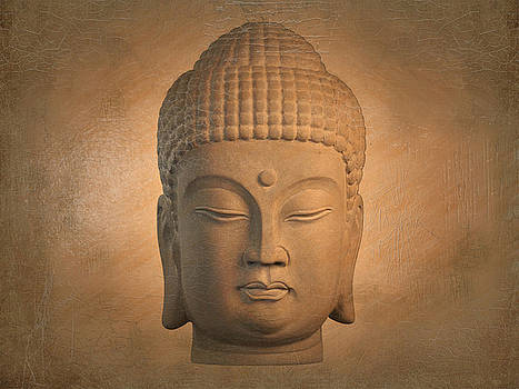 antique oil effect Buddha Korean by Terrell Kaucher