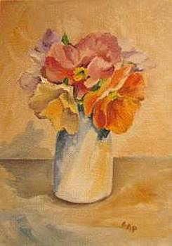 Antique Pansies by Cheryl Pass