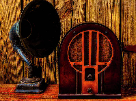 Antique Radio And Speaker by Garry Gay