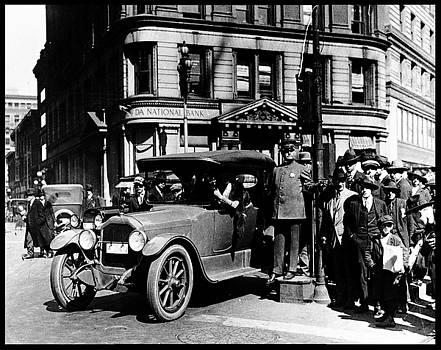 Peter Gumaer Ogden - Antique San Francisco Policeman Market Street 1918