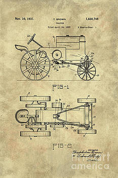 Tina lavoie artwork collection vintage blueprints tina lavoie antique tractor blueprint patent drawing plan from 1929 industrial farmhouse malvernweather Image collections