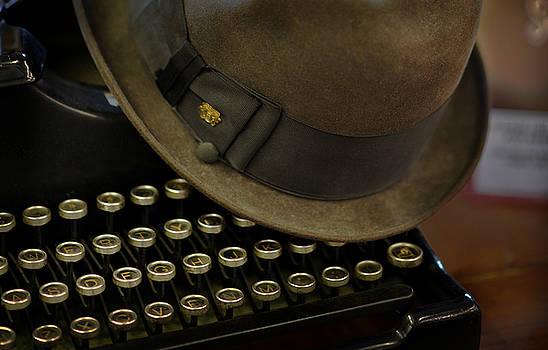 Antique Typewriter  by Lj Lambert