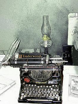 Antique Underwood At The Bar U Ranch by Al Bourassa