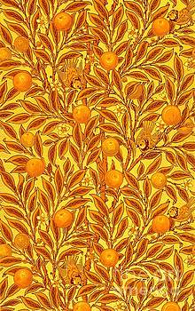 Peter Ogden Collection - Antique Victorian Tapestry with Honey Butterscotch Golden Oranges Birds and Leaves