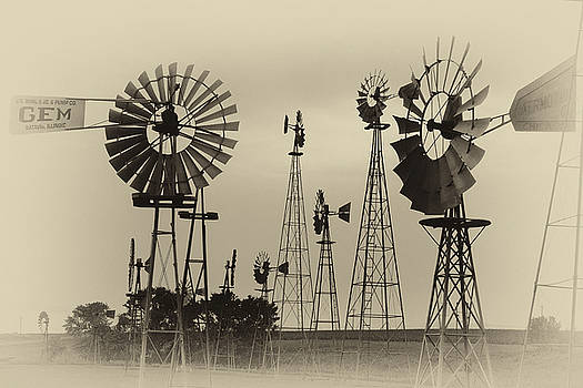 Antique Windmills by Patricia Schaefer
