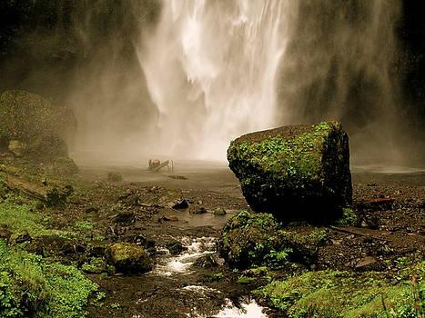 Antiqued Falls by PJ  Cloud