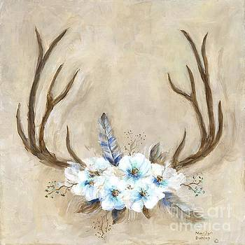 Antlers And Flowers by Marilyn Dunlap