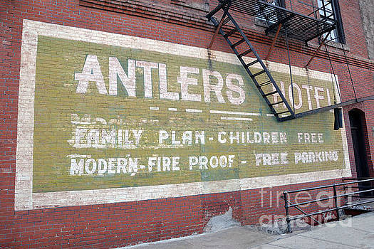 Antlers Hotel Sign, Baker City by Catherine Sherman