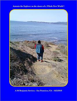 Antonio the Explorer on the shores of a new world by Anthony Benjamin