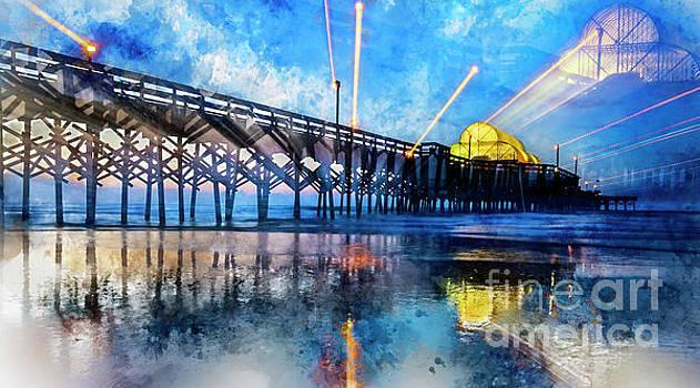 Apache Pier Digital Watercolor by David Smith