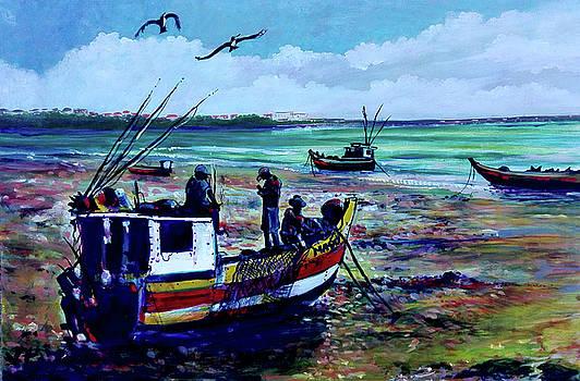 Aparejando la nave by Ricardo Sanchez Beitia