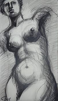 Aphrodite - Female Nude by Carmen Tyrrell