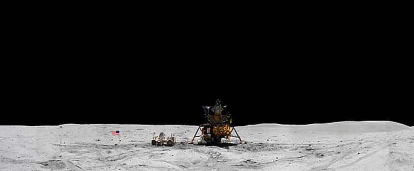 Apollo 16 Landing Site Panorama by Andy Myatt