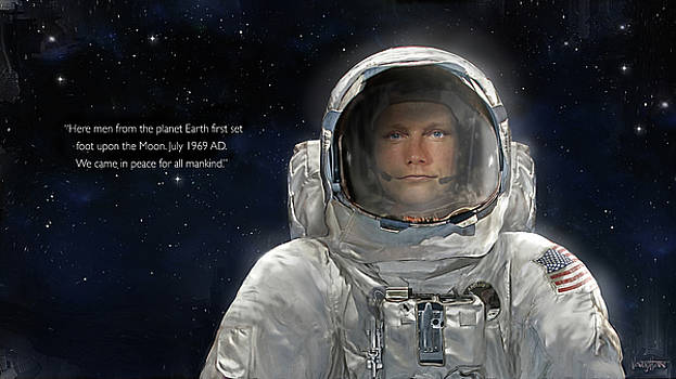 James Vaughan - Apollo - Amstrong - Portrait on the Moon - text