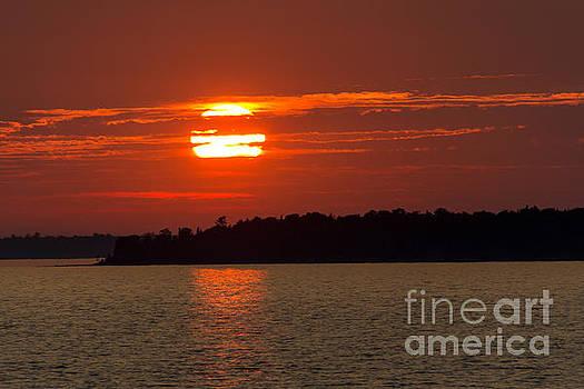 Apostle Island Sunset by CJ Benson