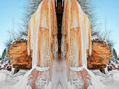 Apostle Islands Waterfall Mirror by Kyle Hanson
