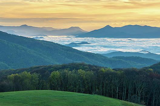 Appalachian Trail NC TN Max Patch Gold by Robert Stephens