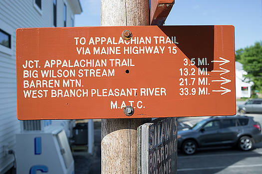 Appalachian Trail Sign by New England Photographic