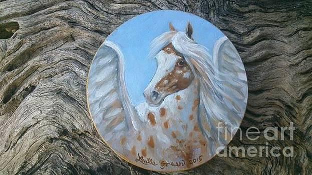 Appaloosa Pegasus by Louise Green