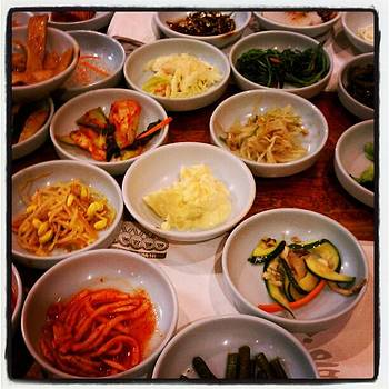 Appetizers At Korean Barbecue by Tammy Winand