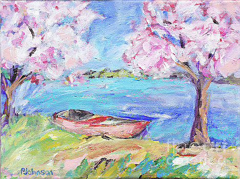 Apple Blossom Lake by Peggy Johnson by Peggy Johnson