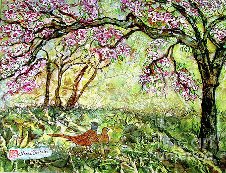 Apple Blossoms In The Spring by Norma Boeckler