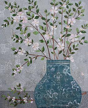 Apple Blossoms in Vase by Janyce Boynton