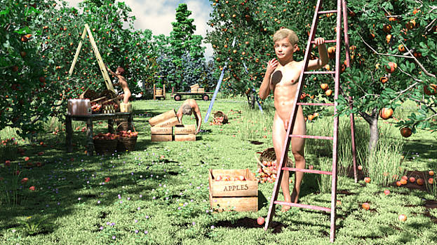 Apple Harvest in Bohemia by Marlon Baker
