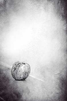 Apple On The Mantel in BW by YoPedro