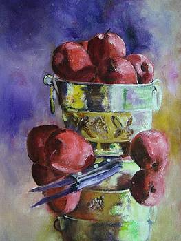Apple Paintings  An Apple Array by Virgilla Lammons