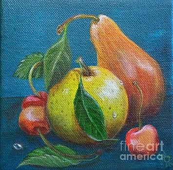 Apple Pear Cherries by Georgia Griffin