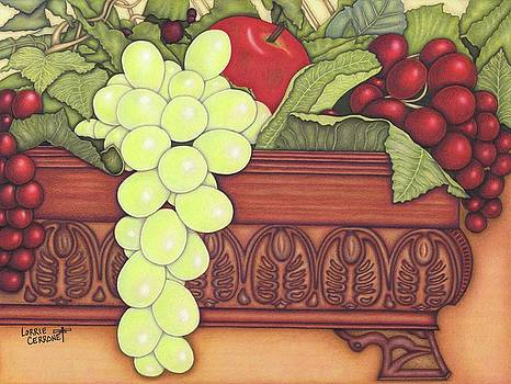Apple With Grapes by Lorrie Cerrone