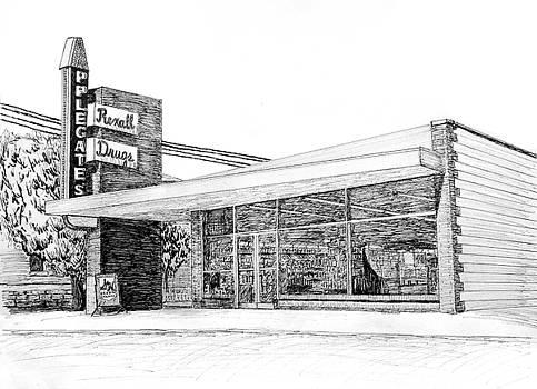 Applegate's Drug Store, Bentonville, Arkansas by Ron Enderland