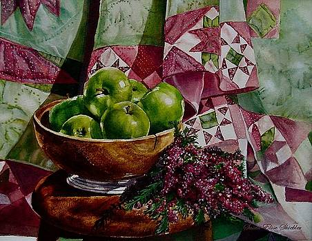 Apples and Heather by Susan Elise Shiebler