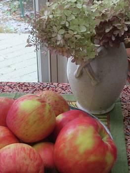 Apples and Hydrangeas by Simi Berman