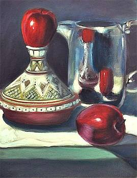 Apples and Moroccan pot by Gayle Bell