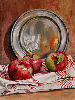 Apples and Pewter by Cheryl Pass