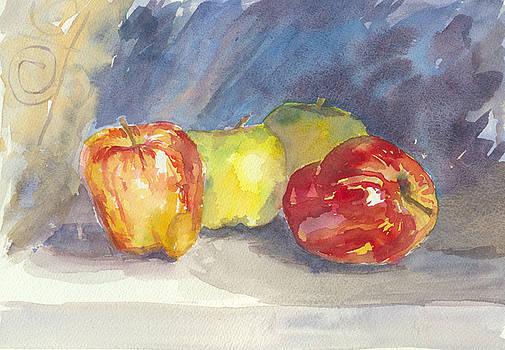 Apples By a Dark Window by Karen Boudreaux