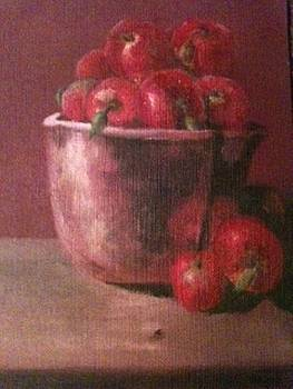 Apples in a Copper Bowl by Joseph Baker