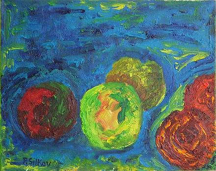 Apples In Blue by Peter Silkov