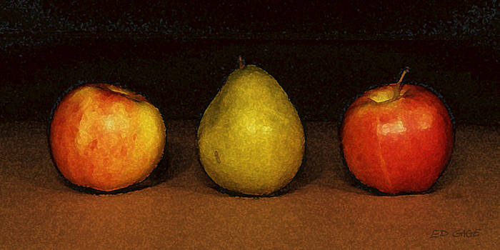 Apples with Pear by Ed A Gage