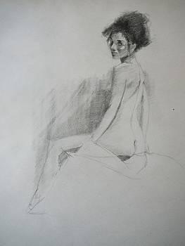 Apprehensive Woman by Irena  Jablonski