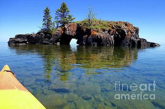 Approaching Hollow Rock by Sandra Updyke