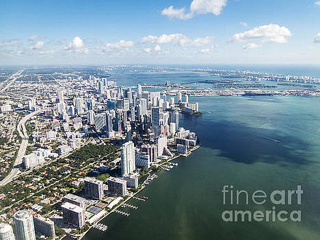 Approaching Miami Aerial by Hugh Stickney