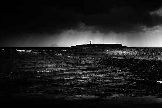 Approaching Storm, Ailsa Craig and Pladda Island by Peter OReilly