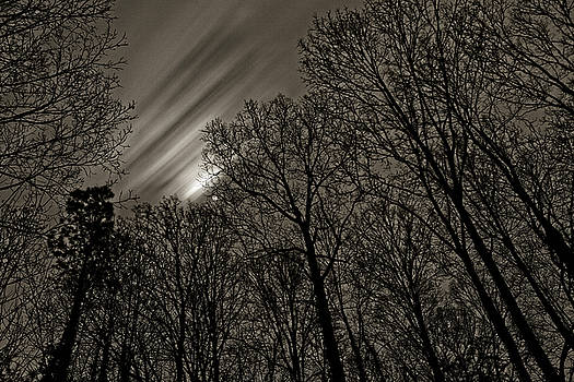 Approaching storm, Black and White by Rod Kaye