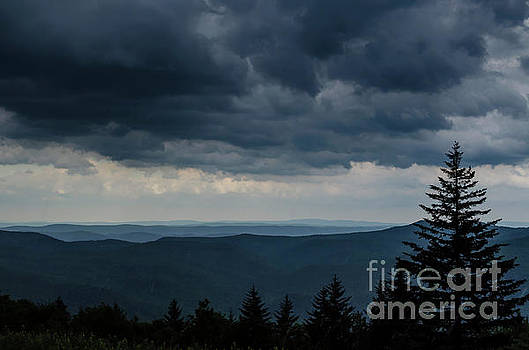 Approaching Storm Highland Scenic Highway by Thomas R Fletcher