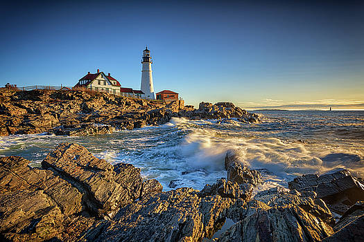 April Morning at Portland Head by Rick Berk